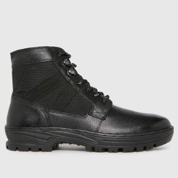 schuh Schwarz Chase Leather Hiker Herren Boots