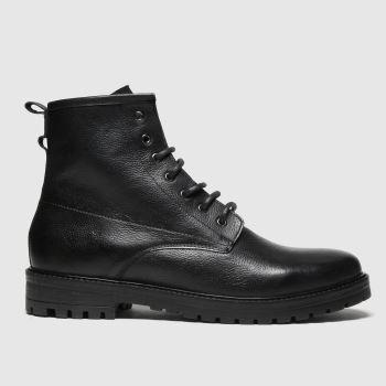schuh Black Jaxon Lace Up Mens Boots#