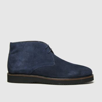 schuh Navy & Black Griffin Chukka Mens Boots