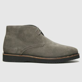 schuh Grey & Black Griffin Chukka Mens Boots