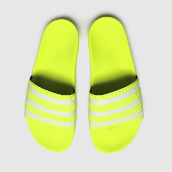 Adidas Yellow Adilette Slide Mens Sandals