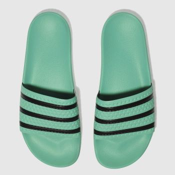Adidas Green Adilette Slide Mens Sandals