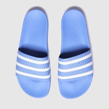 Adidas Blue Adilette Mens Sandals