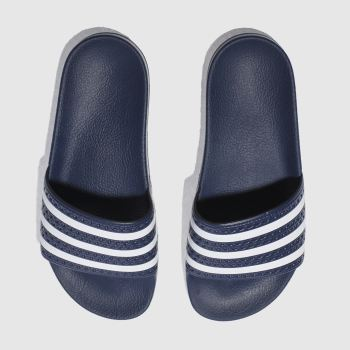 adidas Navy Adilette Slide Mens Sandals
