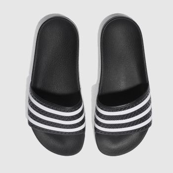 Adidas Black & White Adilette Slide c2namevalue::Mens Sandals