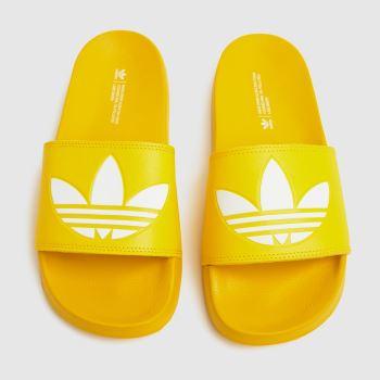 adidas Yellow Adilette Lite Mens Sandals