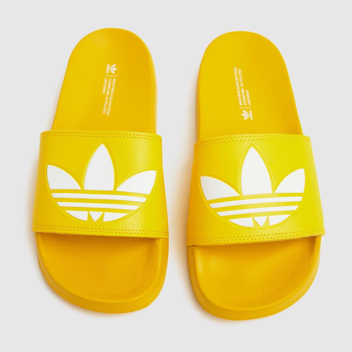 Adidas Yellow Adilette Lite Sandals