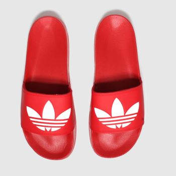 adidas Red Adilette Lite Mens Sandals