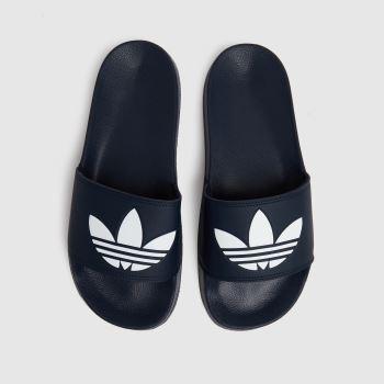 adidas Navy & White Adilette Lite Mens Sandals