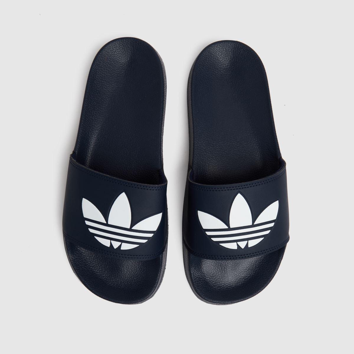 Adidas Navy & White Adilette Lite Sandals