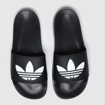 Adidas Black & White Adilette Lite c2namevalue::Mens Sandals