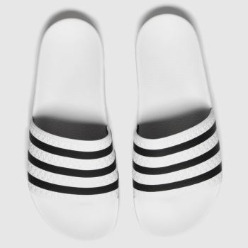 adidas White & Black Adi Adilette Mens Sandals