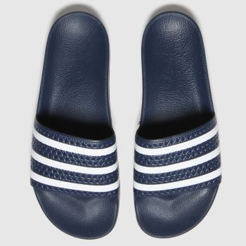 adidas Navy & White Adilette Mens Sandals