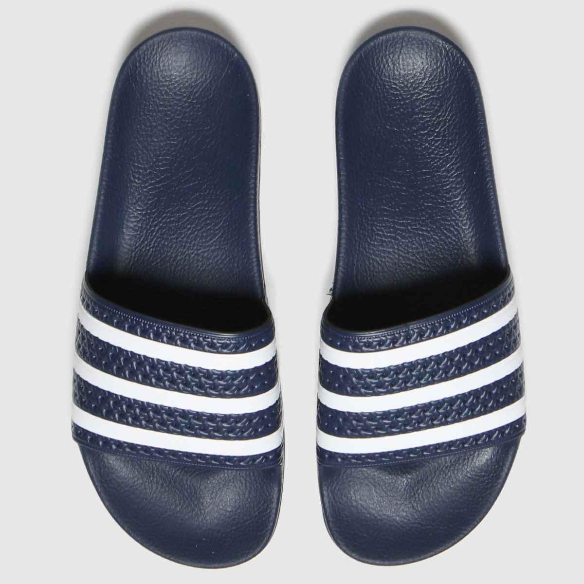Adidas Navy & White Adilette Sandals