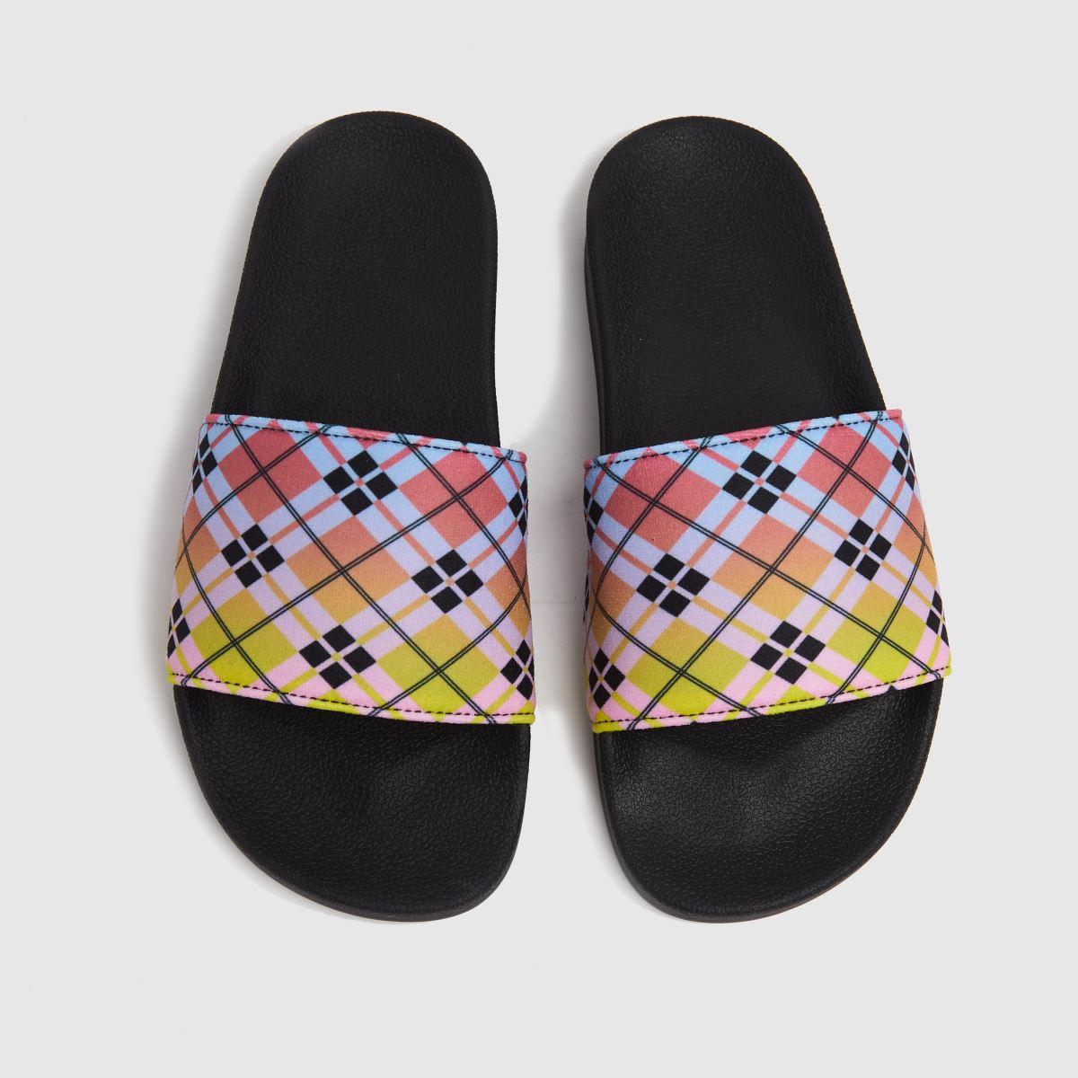 Adidas Black & Pink Adilette Sandals