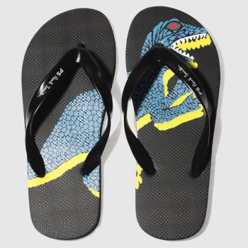 Paul Smith Shoe Ps Black Discflop Mens Sandals