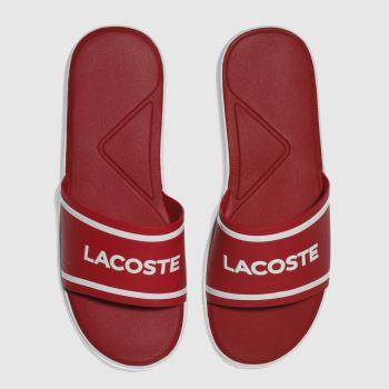0f5e89673c8b mens red lacoste l.30 slide sport sandals