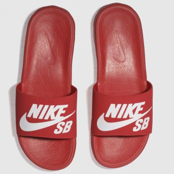 Nike Sb Red Benassi Solarsoft Mens Sandals