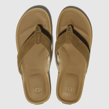Ugg Tan Beach Flip Flop Mens Sandals