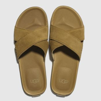 Ugg Tan Beach Slide Mens Sandals