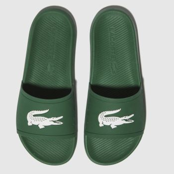 Lacoste Green Croco Slide Mens Sandals