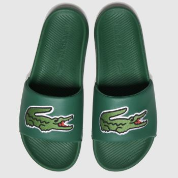 Lacoste Dark Green Croco Slide Mens Sandals