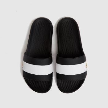 Lacoste Black & White Croco Slide Mens Trainers