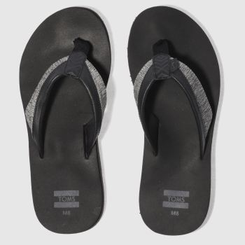 Toms Black Santiago Mens Sandals