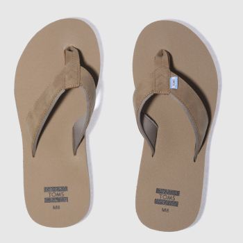 Toms Tan Carilo Flip-flop Mens Sandals