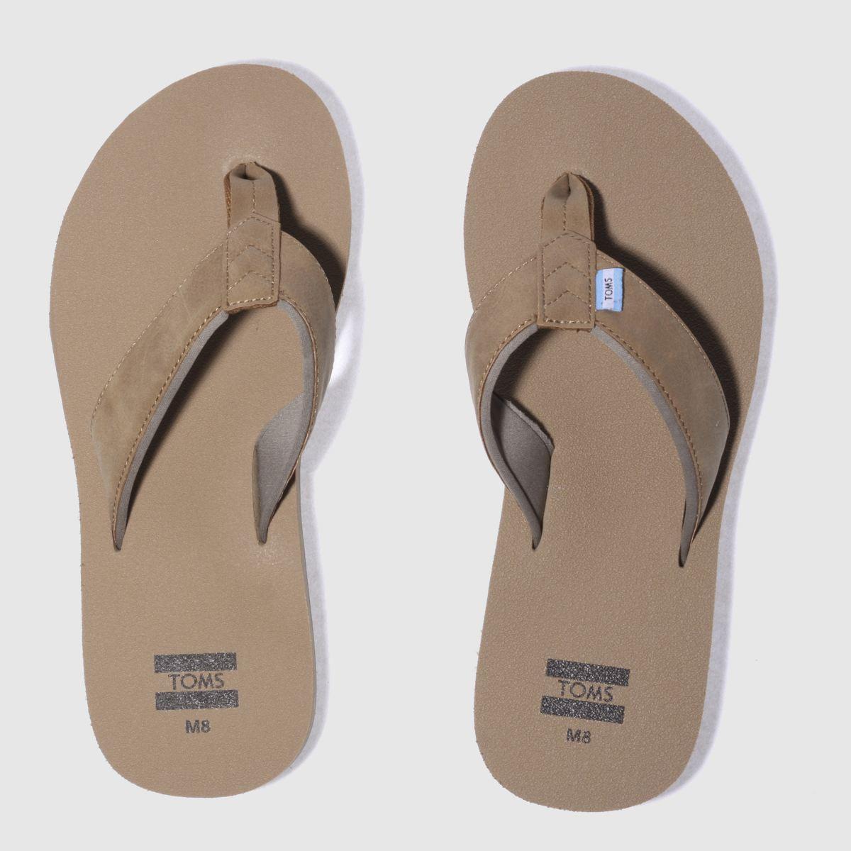 Toms Tan Carilo Flip-flop Sandals