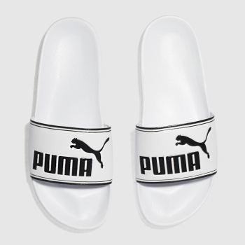Puma White Leadcat Mens Sandals
