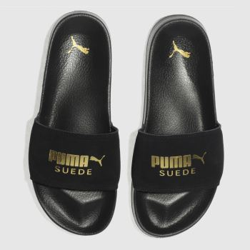 Puma Black Leadcat Suede Mens Sandals