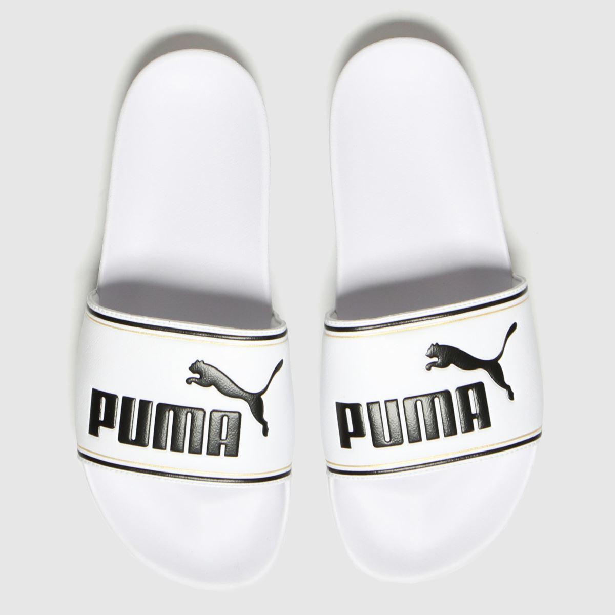PUMA White Leadcat Ftr Sandals
