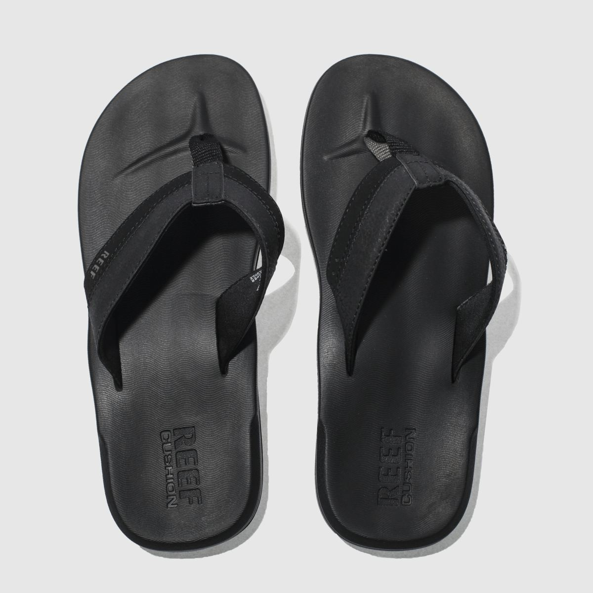Reef Black Contoured Cushion Sandals