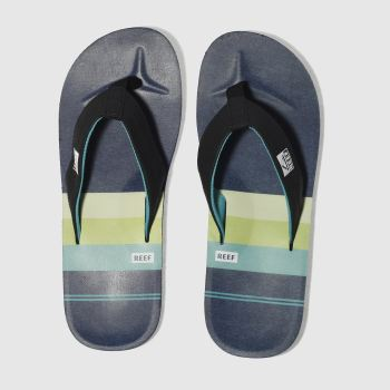 Reef Blue Ht Prints Mens Sandals