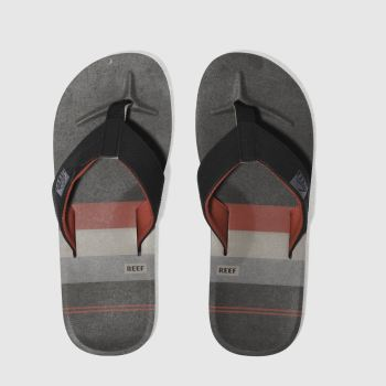 Reef Black & Red Ht Prints Mens Sandals