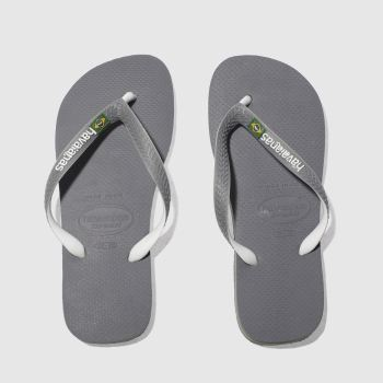 Havaianas Grey Brasil Mix Mens Sandals