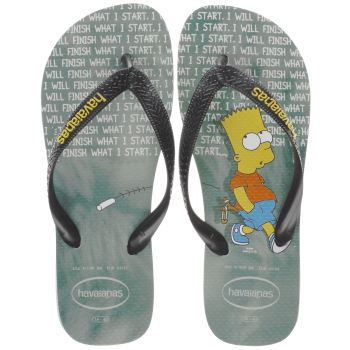 HAVAIANAS BLACK & GREEN THE SIMPSONS SANDALS