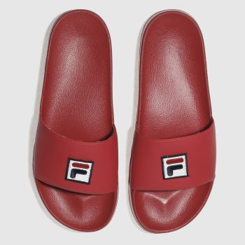 Fila Red F-Box Slider Mens Sandals