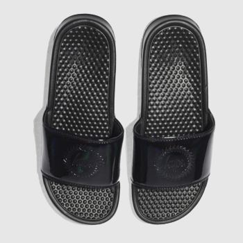 Hype Black Iridescent Slider Mens Sandals