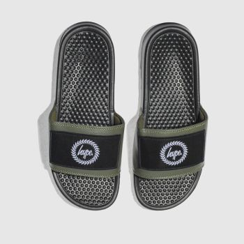 Hype Khaki Insignia Slider Mens Sandals