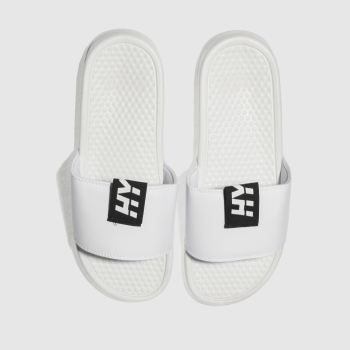 Hype White Tab Slider Mens Sandals