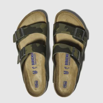 296ff8687 Birkenstock Khaki Arizona Soft Footbed Mens Sandals