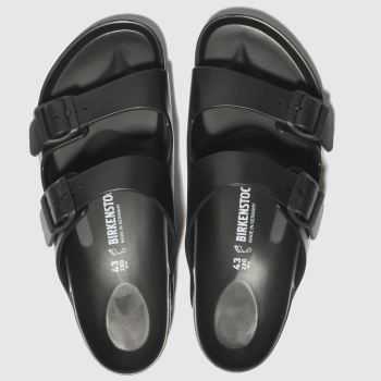 7bf86fba7d1cf Birkenstock Black Arizona Eva Mens Sandals