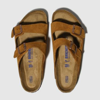 Birkenstock Tan Arizona Sfb Mens Sandals