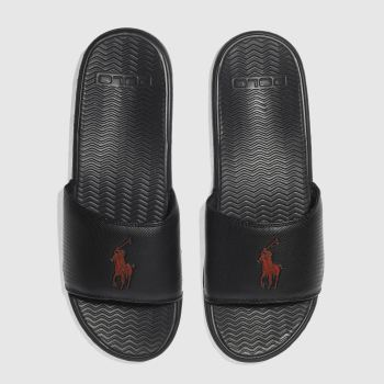 Polo Ralph Lauren Black & Red RODWELL Sandals