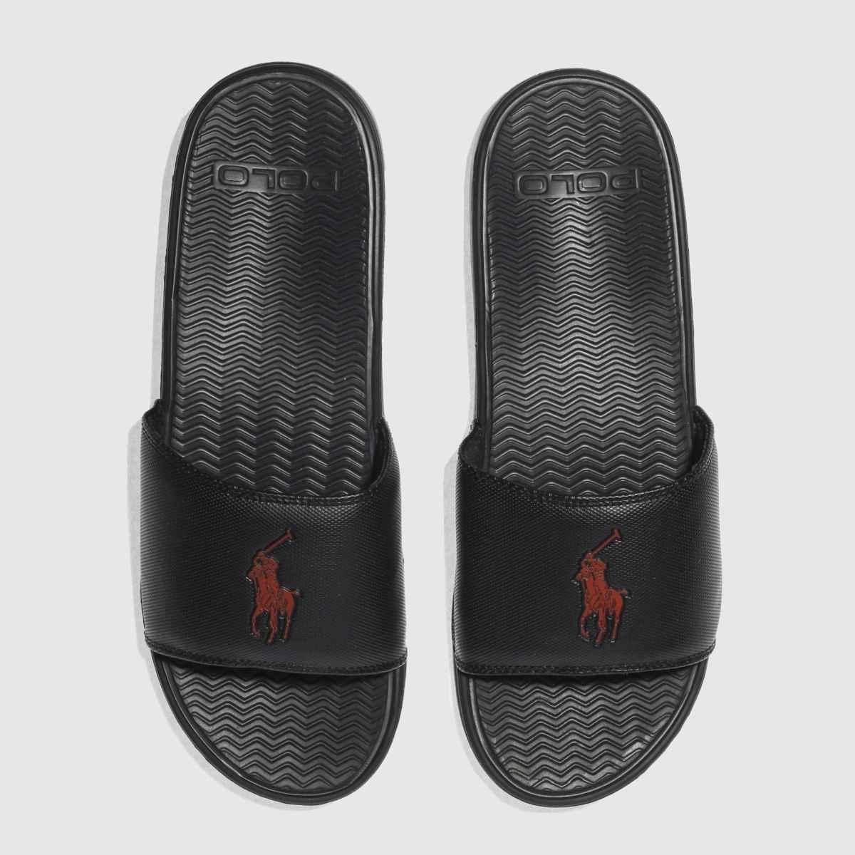 Polo Ralph Lauren Black & Red Rodwell Sandals