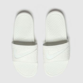 Nike White & grey Benassi Jdi Sandals