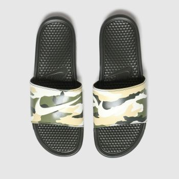 Nike Green & Stone Benassi Jdi Mens Sandals