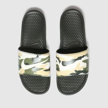 Nike Green & Stone Benassi Jdi Mens Sandals from Schuh